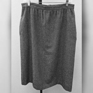 Vintage Houndstooth Pencil Skirt 10/12